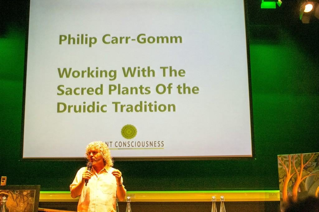Leading Druid Philip Carr-Gomm beginning his guided meditation. Picture by: Boris Austen