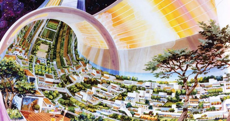 NASA's Psychedelic Blueprints For The Colonization Of Space