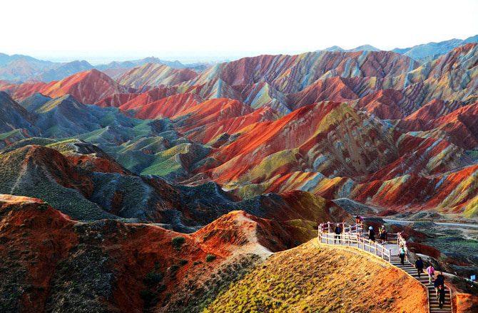 Zhangye Danxia Landform In Gansu