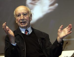 "Albert Hofmann, the Swiss chemist who discovered the mind-altering drug LSD, talks during the symposium ""LSD: Problem Child and Wonder Drug"" in Basel, Switzerland. (Siggi Bucher/Reuters)"