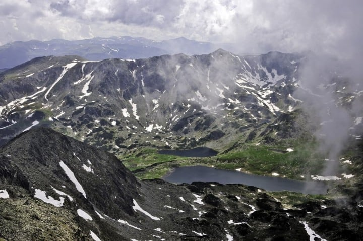 Bucura and Ana lakes from Peleaga Peak, Transylvania, Romania by Horia Varlan