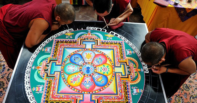 These Intricate Tibetan Sand Paintings Are Swept Away Upon Completion