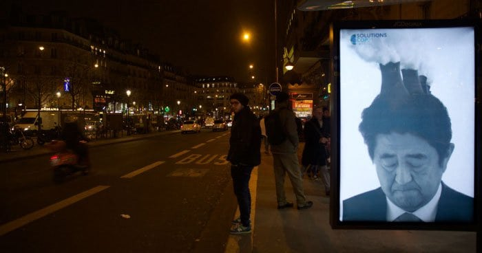 Brandalism on the streets of Paris during COP21