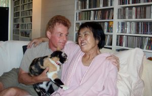Norbert Litzinger and his wife Pamela Sakuda are shown just hours before her death on Nov. 10, 2006. Sakuda was a patient in a psilocybin research study for terminally ill cancer patients with anxiety. courtesy of NORBERT LITZINGER