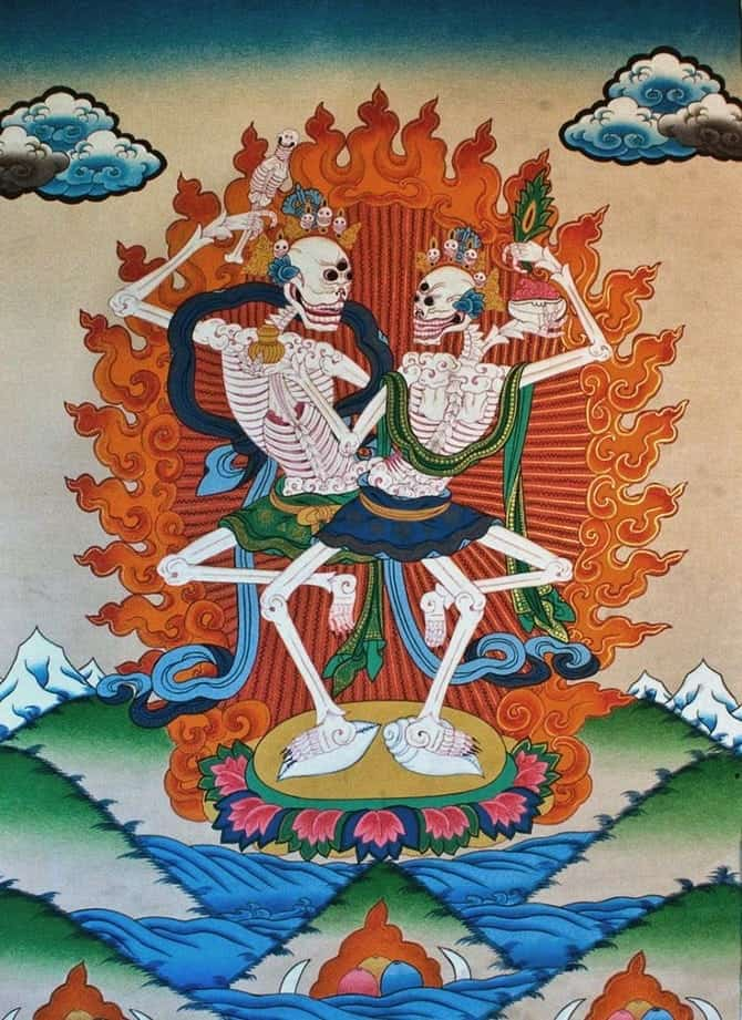 Citipati--Lords-of-the-Cemetery.-Bardo-Thdol.-Tibetan-Book-of-the-Dead._670