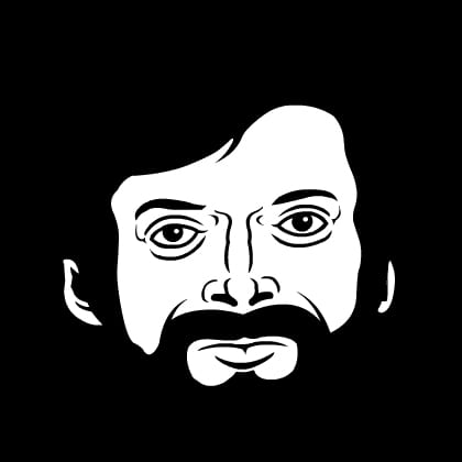"Artist's rendering of Terence McKenna aka ""Uncle Terence"". Credit: ""thöR (Creative Commons)"