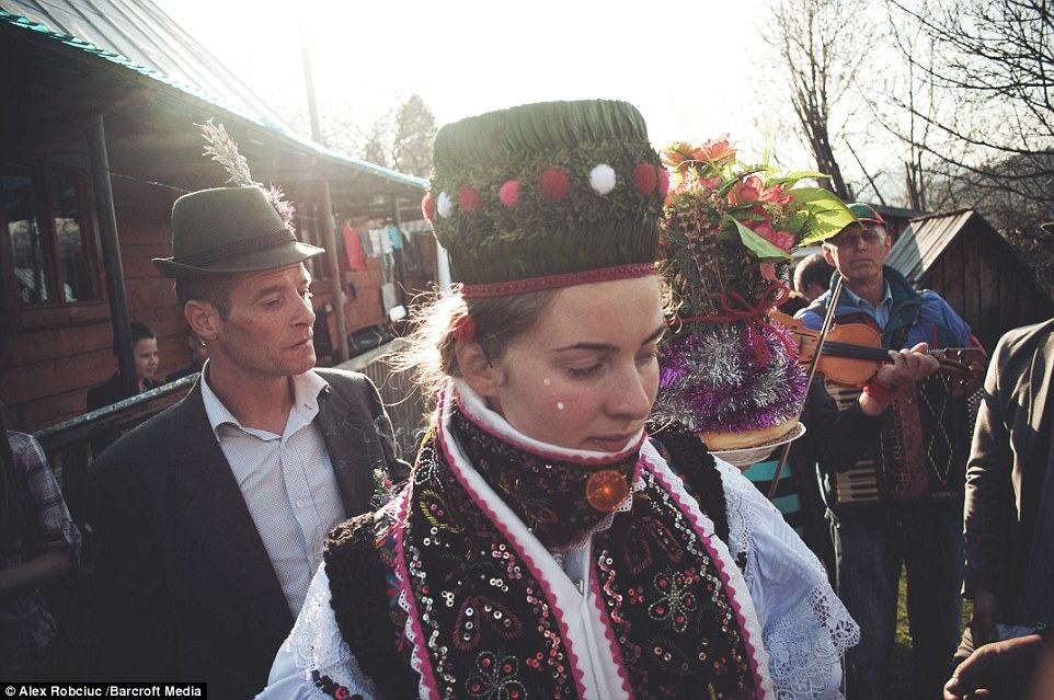 The pictures were taken by photographer Alex Robciuc in various villages around the Maramures County of Romania