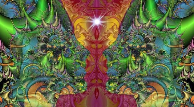 IMAGES ETC LTD VIA GETTY IMAGES An artistic rendering of the psychedelic experience. Scientists say that LSD has paradoxical psychological effects.