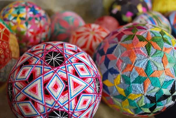 Temari balls – Hand Crafted Geometric Spheres Made By 93-Year-Old Grandmother