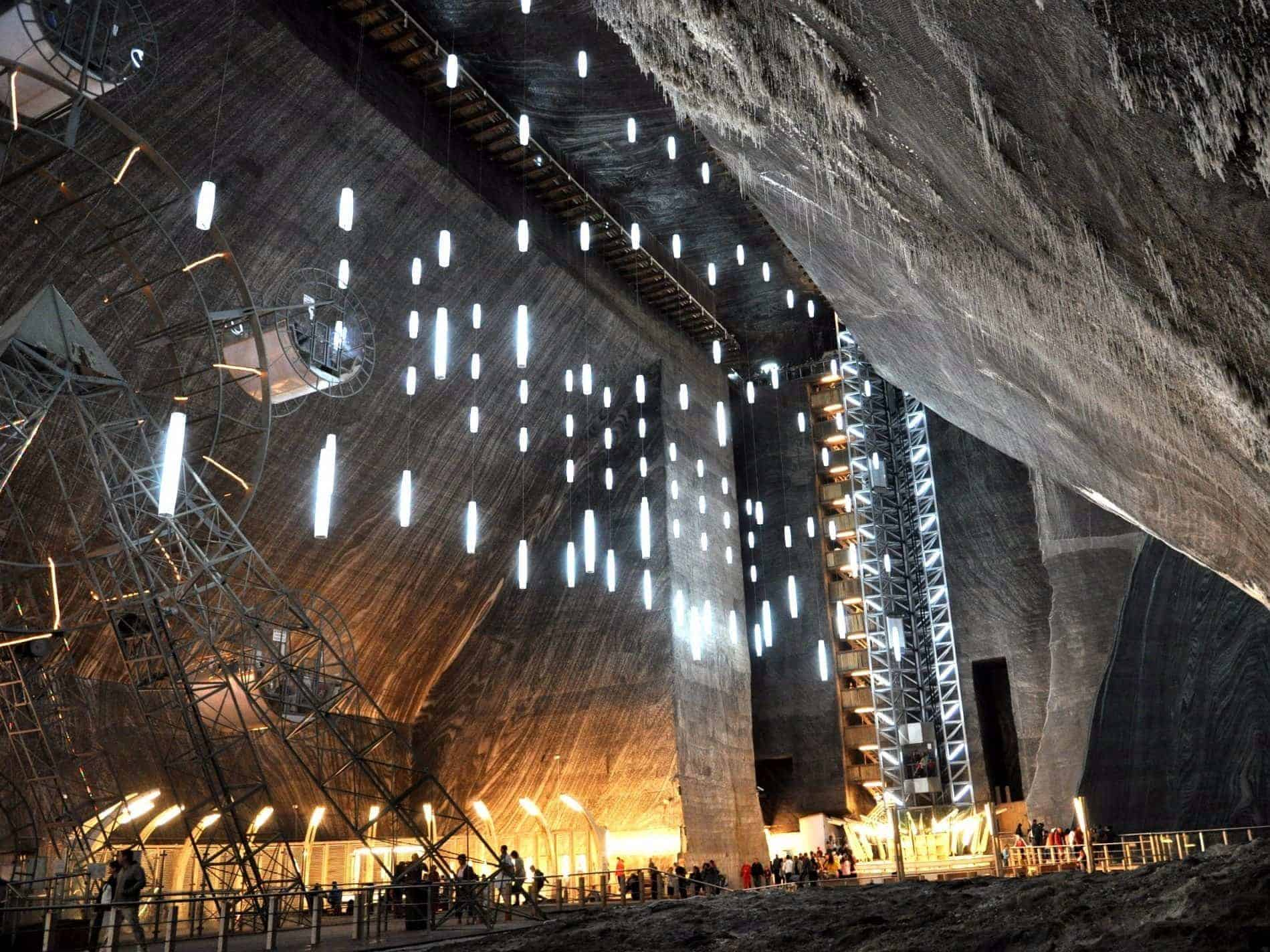 The mine is one of the oldest in the world and still maintains its majestic beauty.