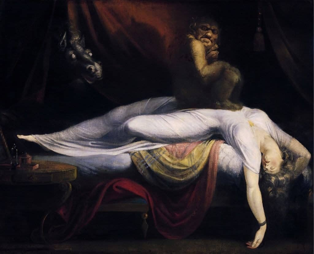 'Well, hello monster' – The Nightmare by John Henry Fuseli could just as well be depicting a difficult psychedelic experience (Source: Wikimedia Commons)