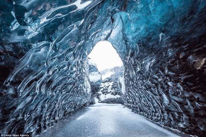 ICELAND CRYSTAL CAVE