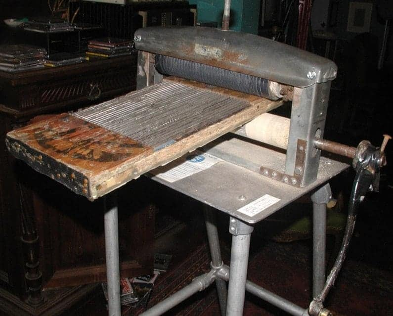 Original Perforating machine (via Blotter Barn)