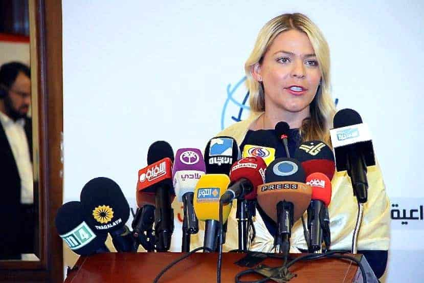 Speaking at a press conference in Lebanon on the human rights abuses I witnessed while reporting in Bahrain.
