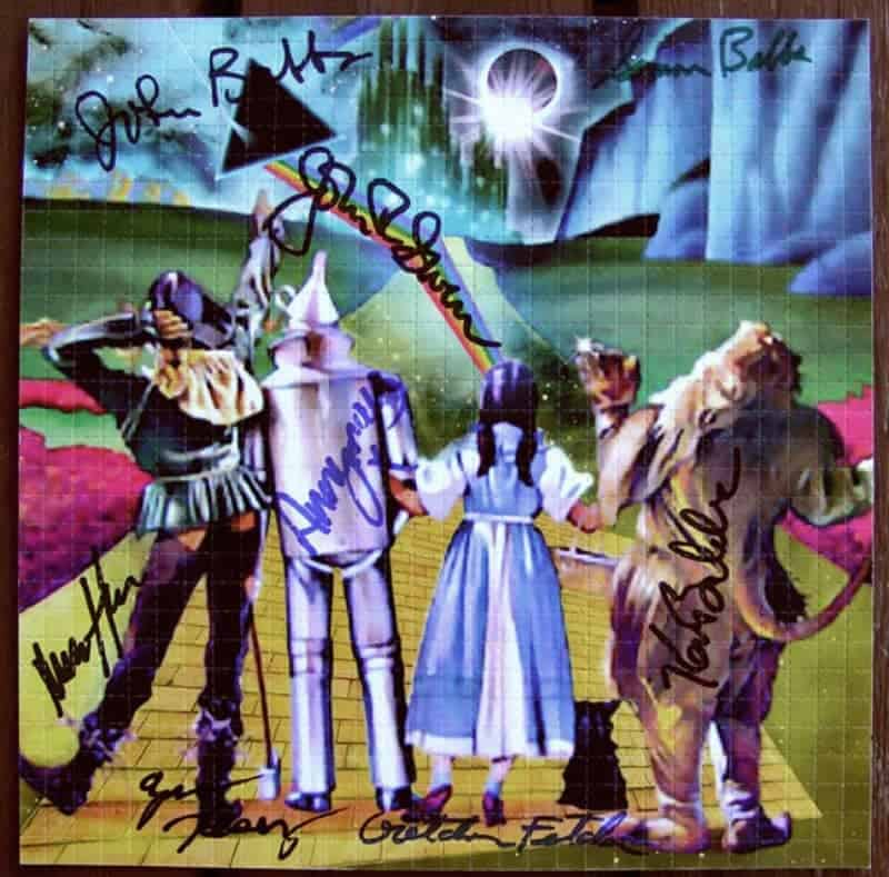 Wizard of Oz, unknown. Signed by the Merry Pranksters. (source unknown)