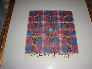 "Timothy Leary signed blotter art ""Rose & Pearls"" by Mouse/Kelly (via Worthpoint)"