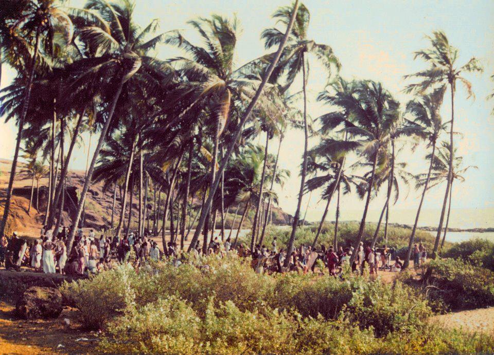 Early Flea market on Anjuna Beach, Goa, 1970s (Photo credit unavailable)