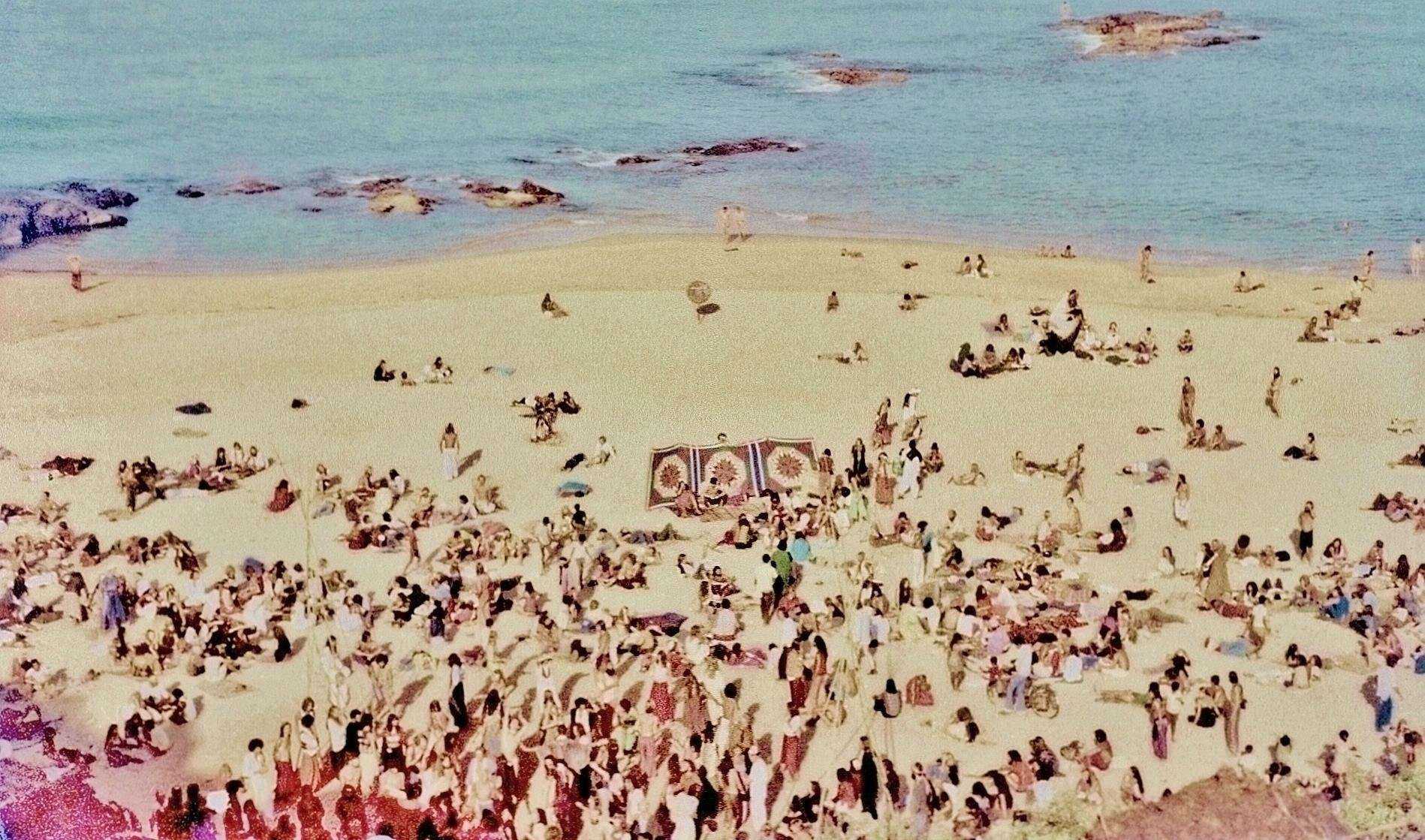Late 1977, Full moon party morning on South Anjuna beach (Photo by Sunny Schneider).