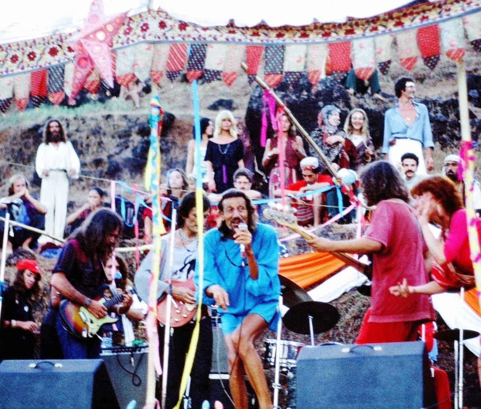 8 Finger Eddie (RIP) with the band in New Years Eve party in the late 70s (Photo by Sunny Schneider).