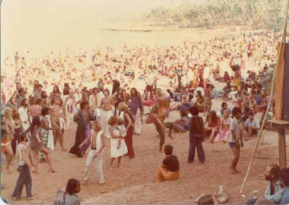 Morning of New Years Eve party, Goa, 1979 (Photo by Sunny Schneider).