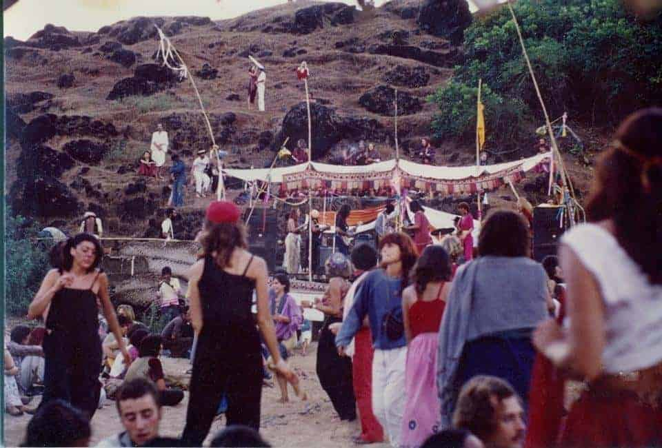 Full Moon party in Goa in mid 1970s (photo credit unavailable)