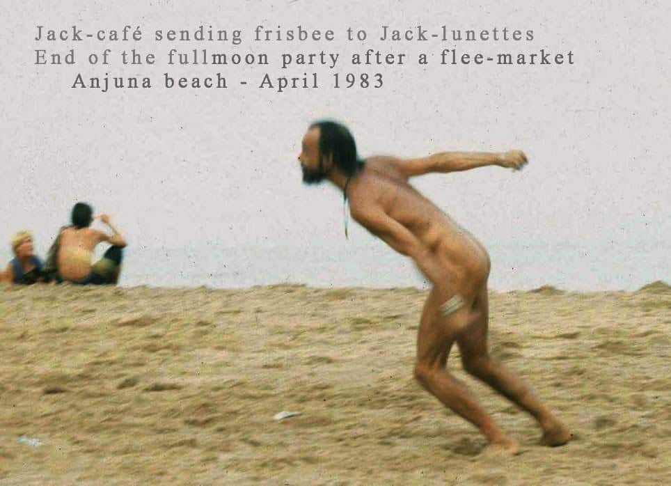 Things happening on Anjuna Beach after a full moon party in April, 1983 (Photo credit unavailable).