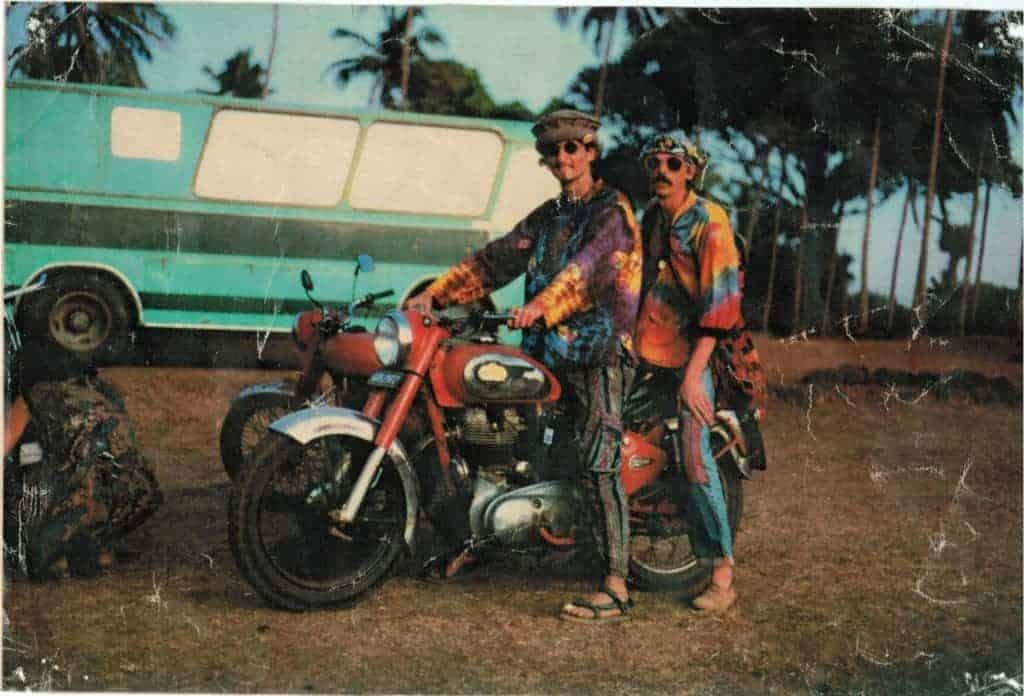 Hippie Bikers 🙂 @ Vagator Goa 1992-93 season. (Photo by Nic Space).