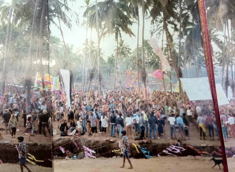 Hand made panorama – Goa, 1992 (Photo by Rinat Ben-Yosef).