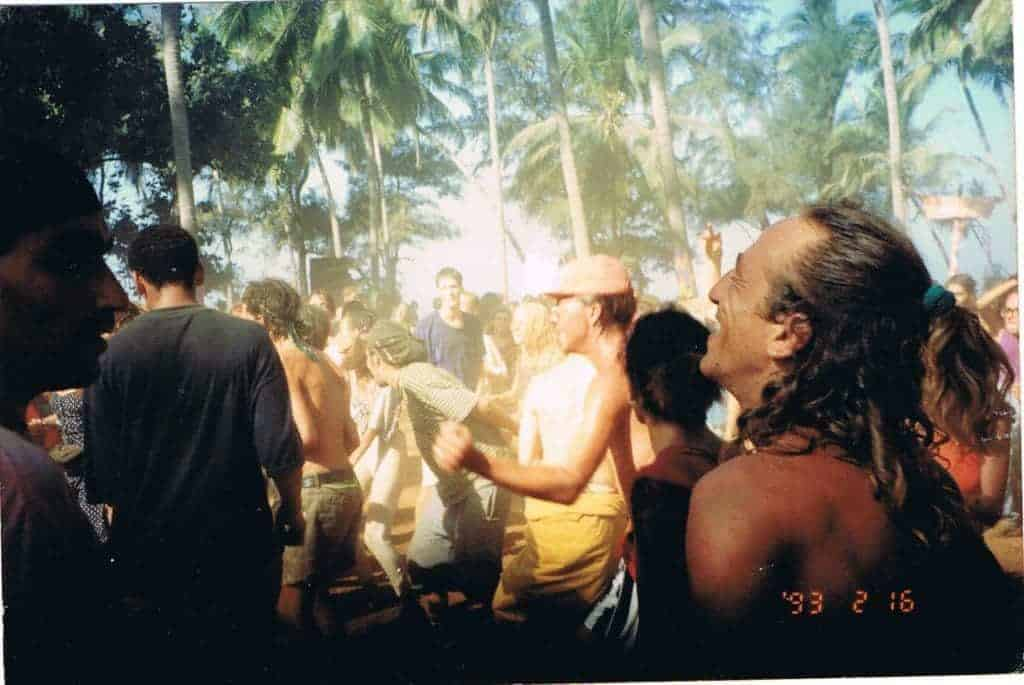 Goa, 1993. On the left, DJ Miko of California Sunshine. (Photo by Dalit Poliva).