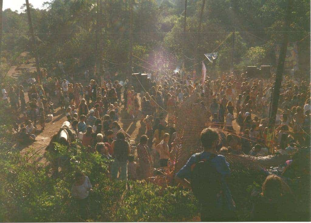 Disco Valley, Goa, February 1994. (Photo by Paddy Owen).