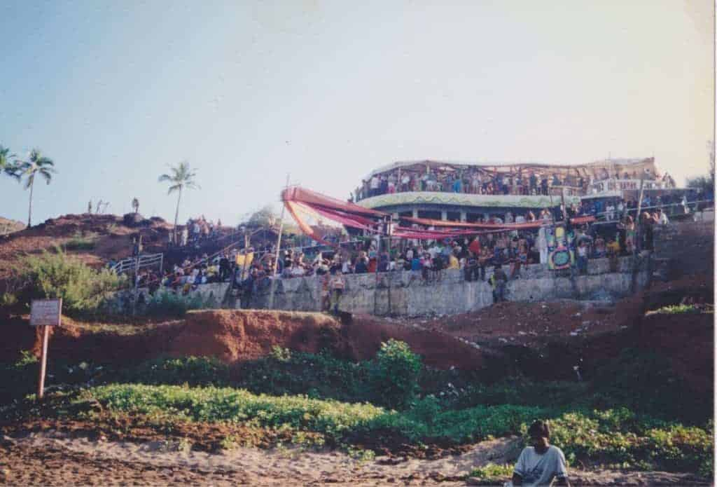 Paradiso, Goa, 1997-8 season. (Photo by Kaila McCulloch Tarrant).