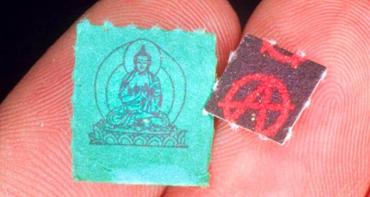 Buddha and Anarchy (my favs) I couldn't resist! But this blotter art really says it all! |Source: theplaidzebra.com