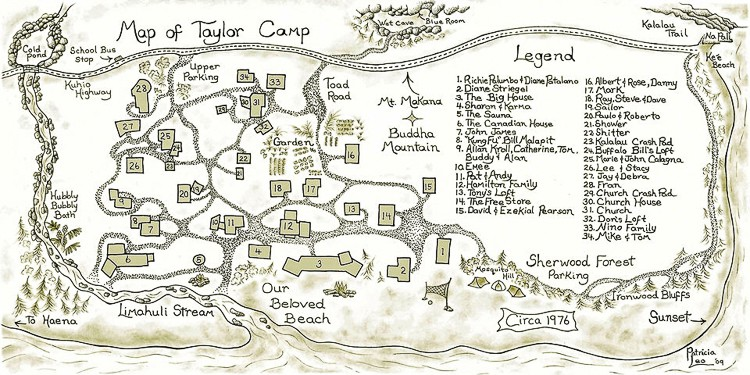 Map of Taylor Camp