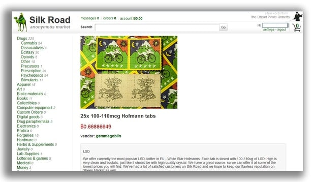 Silk Road was the first major drug market on the dark web.