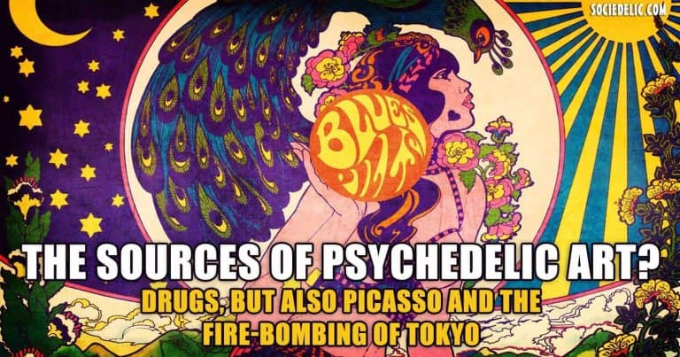 The Sources of Psychedelic Art? Drugs, But Also Picasso and the Fire-Bombing of Tokyo