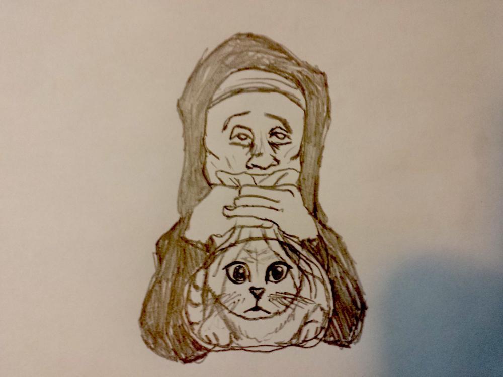 "A very literal rendering of ""Kittenhuffer"""