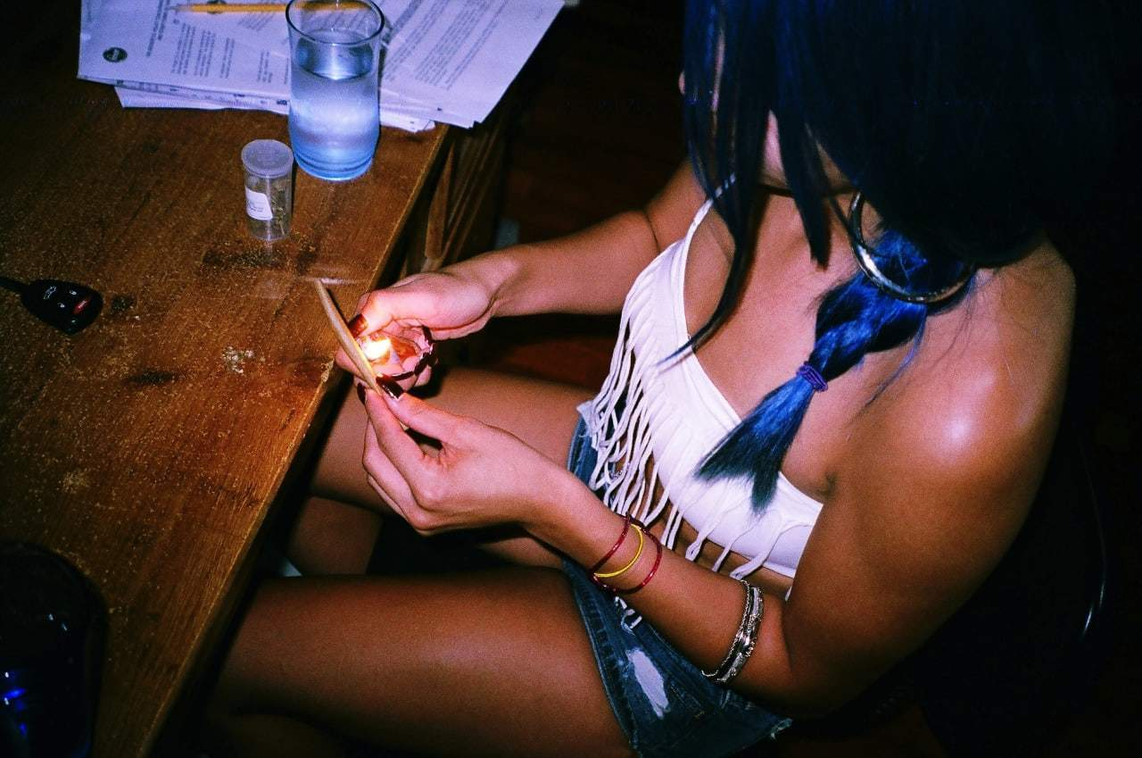 Pot smoking girlfriend