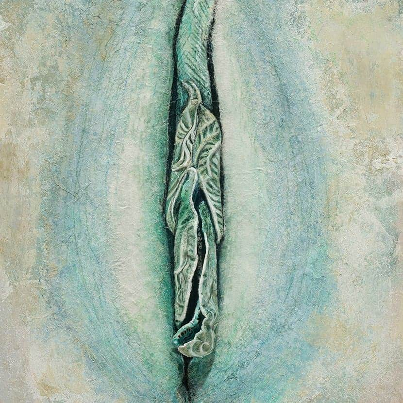 Floral Vagina Paintings by Artist Jacqueline Secor
