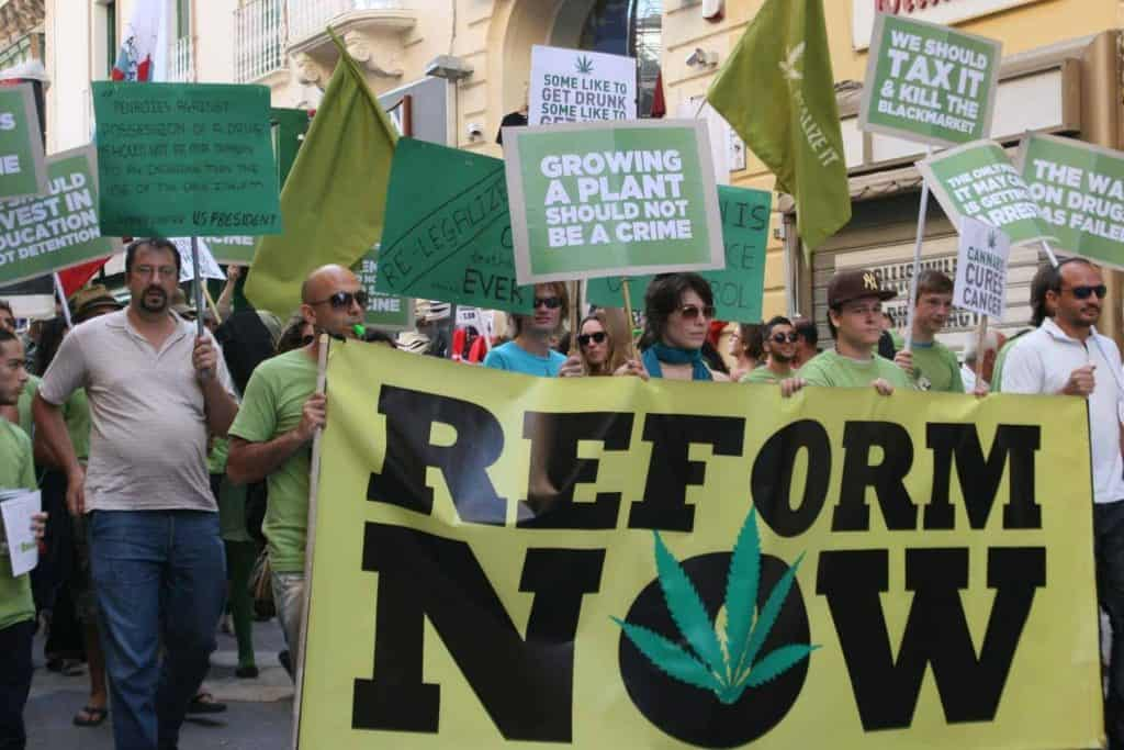 Cannabis March in Malta