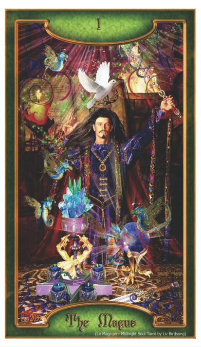 Le Magician - Midnight Soul Tarot by Liz Birdsong