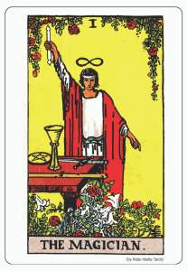 The Magician. by Rider Waite Tarot