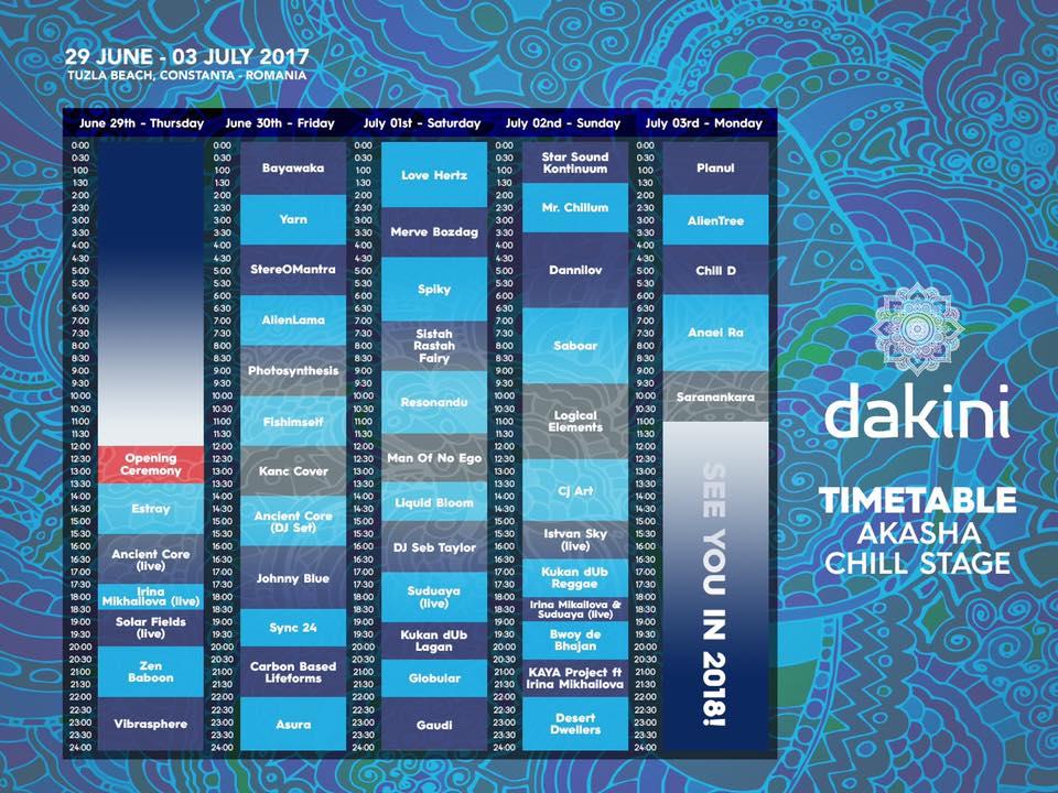 Dakini Festival chill stage